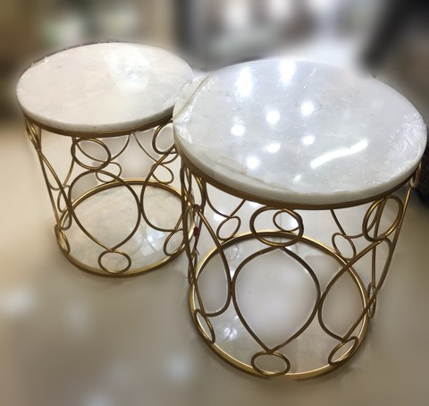 119895/Marble top Side Table