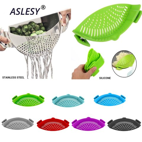 Adjustable colander Clip on Pot
