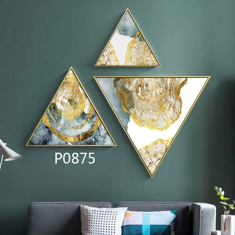 3 pieces Triangular Painting Set/03