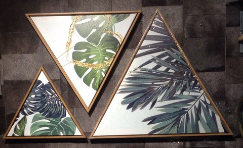 3 pieces Triangular Painting Set/04