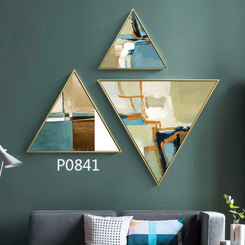 3 pieces Triangular Painting Set/05