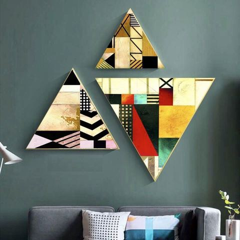 3 pieces Triangular Painting Set/06