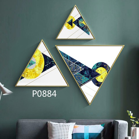 3 pieces Triangular Painting Set/07