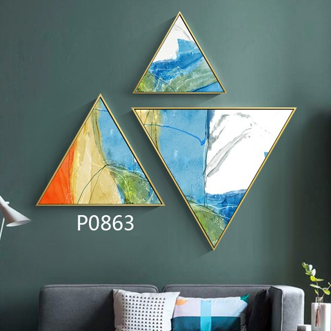 3 pieces Triangular Painting Set/08