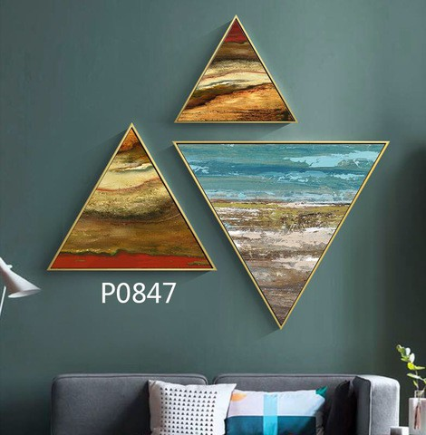 3 pieces Triangular Painting Set/09