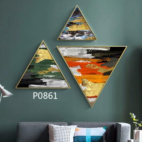 3 pieces Triangular Painting Set/10