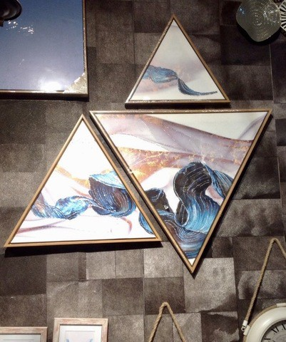 3 pieces Triangular Painting Set/11