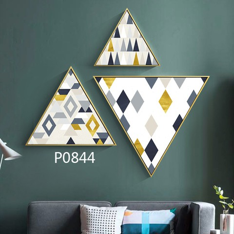 3 pieces Triangular Painting Set/12