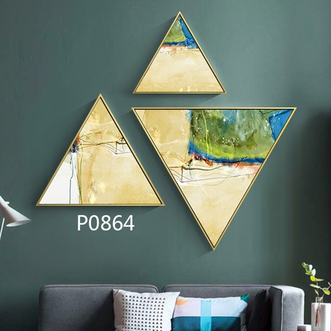 3 pieces Triangular Painting Set/13