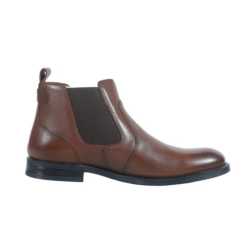 Brown Leather Boot for Women-0181507