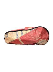 Tennis Racket Trains Bag from Recycled Cement Sacks or Bags