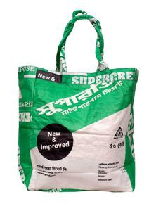 Shoulder Bag from Recycled Cement Sacks or Bags