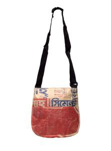 Shoulder Bag from Recycled Rice Sacks or Bags