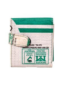 Men's Wallet from Recycled Cement Sacks or Bags