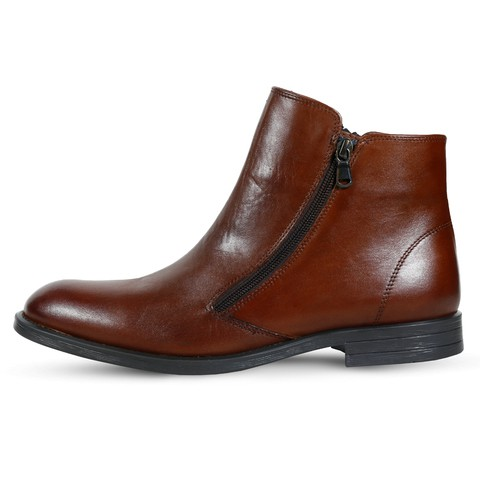 Brown Leather Boot for Men-1009Brn