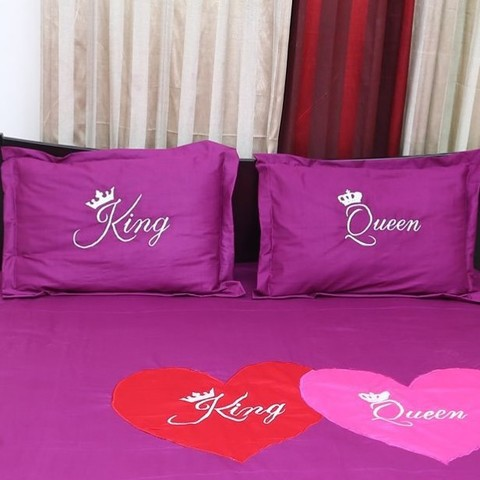 King Queen Pillow Cover - 2 Pecs
