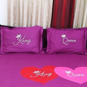 King Queen Pillow Cover - 2 Pecs