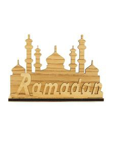 Wooden Ramadan Showpiece For Table Decor