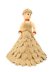 Jute & Plastic Stuffed Doll