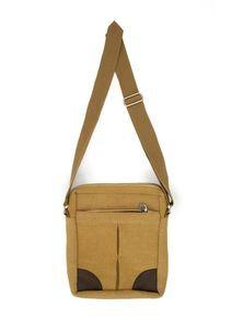 Jute & Leather Passport Bag