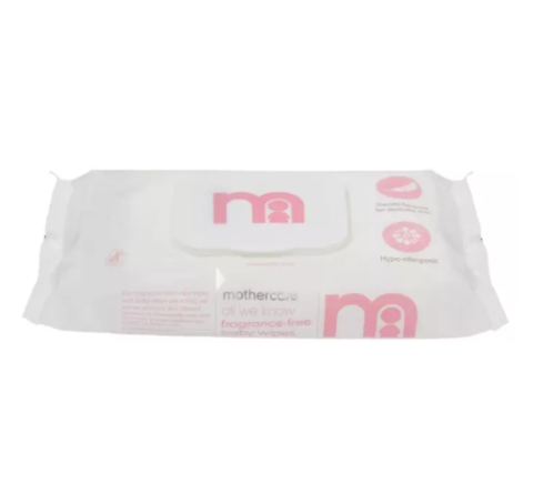 Mothercare Fragrance-Free Baby Wipes 60pcs