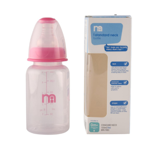 Mothercare Narrow Neck Feeding Bottle 150ml Pink