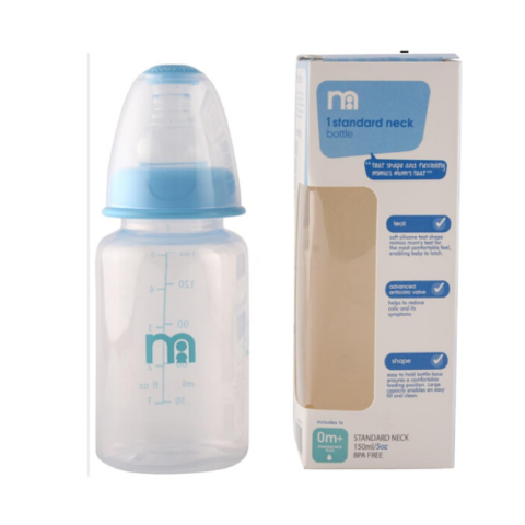Mothercare Narrow Neck Feeding Bottle 150ml Blue