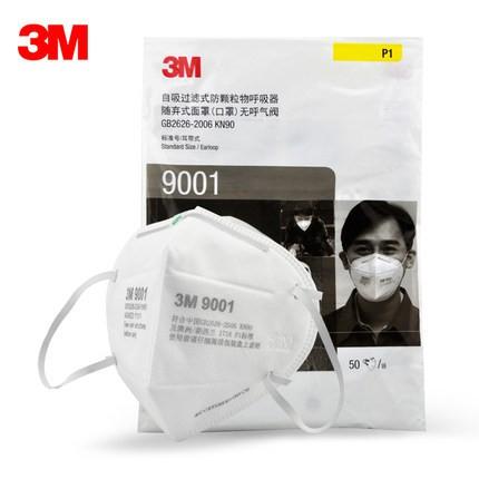 3M 9001 KN95 Masks 50 pieces