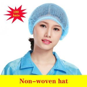 Disposable surgical cap medical caps Non-woven fabric  100 piece