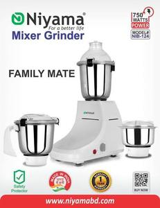 Niyama 750 Watt NIB - 124 Mixer Grinder