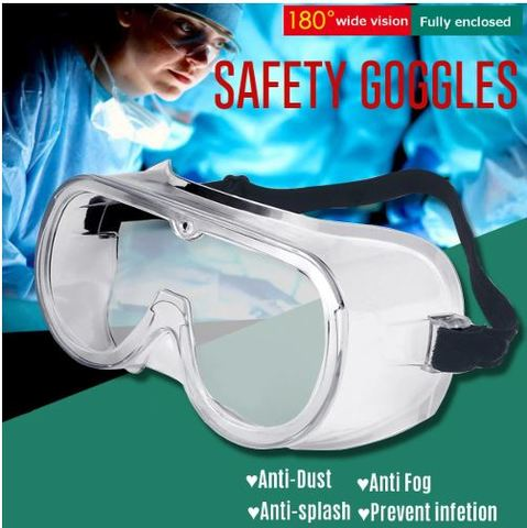 Safety Glasses Anti-Fog Transparent Goggles Adjustable