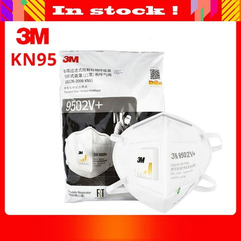 3M 9502V + KN95 Mask 100% Original with SN 25PCS PER BOX