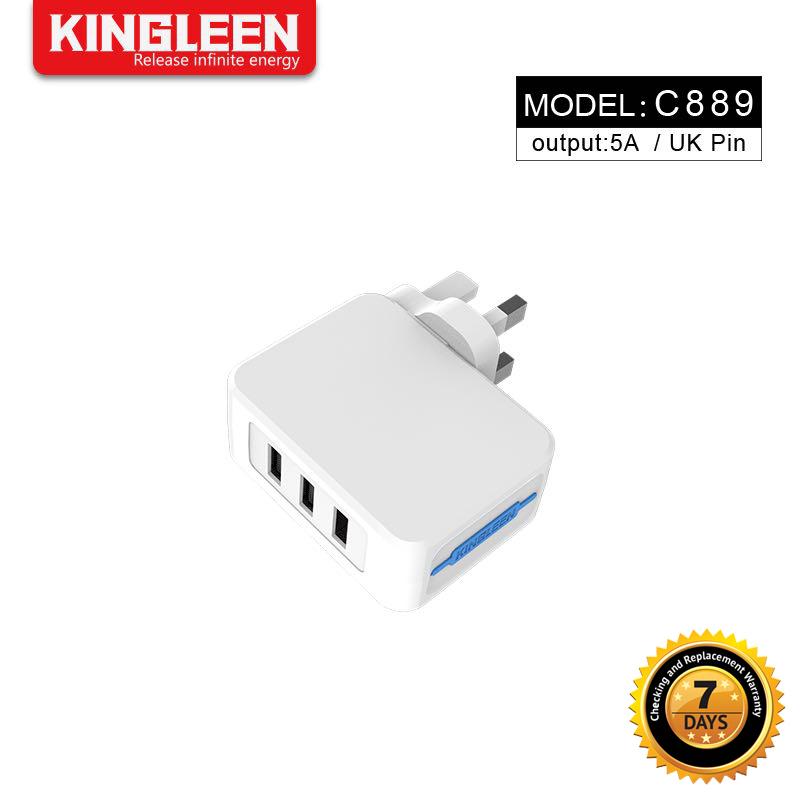 Kingleen - 3 USB charger C889 3pin