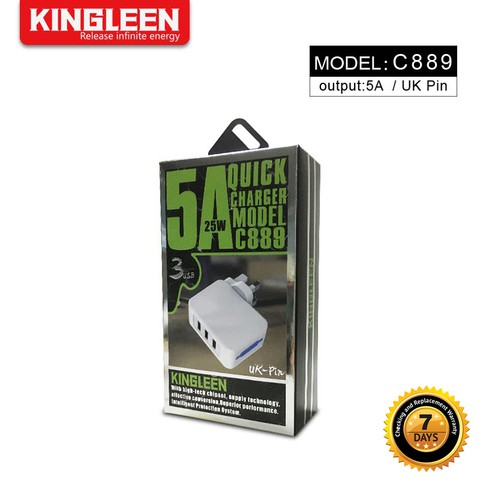 Kingleen - 3 USB charger C889 3pin