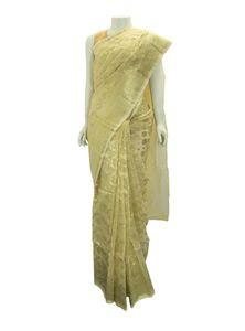 Half Silk Jamdani Saree