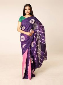 Batik Dyed Cotton Saree for Women