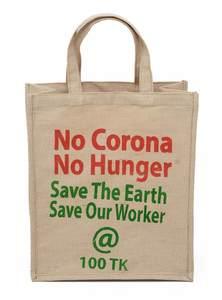 No Corona No Hunger Jute Bag