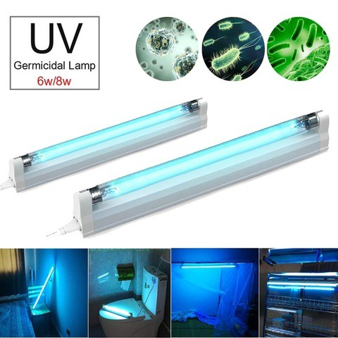 UV-C light sterilizer germicidal lamp 8W tube with ozone