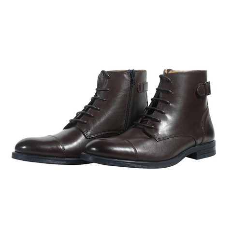 Brn Leather Boot for Men-900503-2