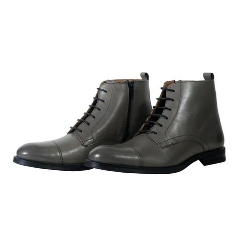 Brogue Style Leather Boot-900503-3