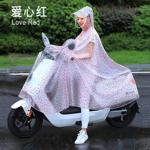 Transparent Motorcycle Raincoat Windproof Chubasquero Moto Raincoat Clear Impermeable Raincoat