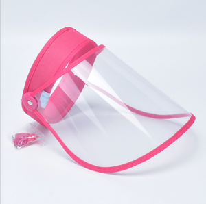 Transparent Protective Face Shield Hat Visor Cap Flip Up Rotatable Adjustable Dustproof Anti-Dust Splash-Proof Full Cover Shield