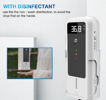 YAD-001 Wall Digital Infrared Thermometer Non Wash Disinfection Wall Thermometer Smart Thermometer