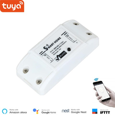 10A Smart Home Breaker Remote Control Switch Module Support ALEXA Voice Control