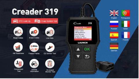 Yuanzheng X431 Creader319 reader scanning tool OBD2 CR319 car diagnostic instrument