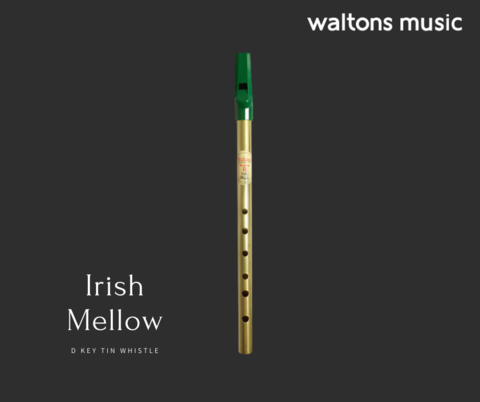 Waltons Irish Mellow D Tin Whistle-Brass