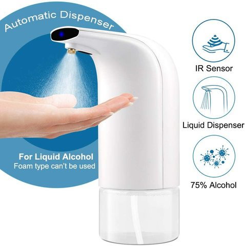 300ML Automatic Induction Alcoho Sprayer Touchless Dispenser
