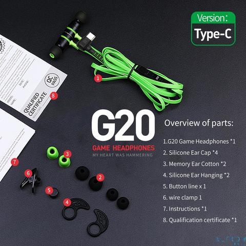 Plextone G20 Gaming Earphone Type-C