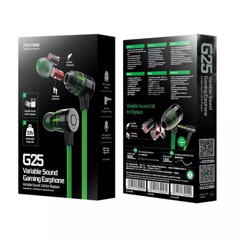 Plextone G25 Gaming Earphone 3.5mm