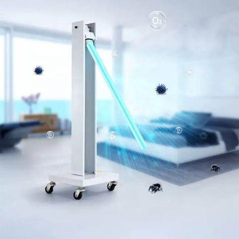 100W UV Light Sterilizer Large Space Hospital UV Germicidal Lamp UV Ozone Lamp for Health Home School